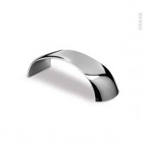 Poignée de meuble - Salle de bains N°20 - Chromé brillant - 11,2 cm - Entraxe 96 mm - HAKEO