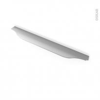 Poignée de meuble - Salle de bains N°57 - Inox brossé - 29,6 cm - Entraxe 192 mm - HAKEO