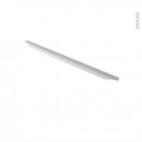 Poignée de meuble - Salle de bains N°57 - Inox brossé - 59,6 cm - Entraxe 224 mm - HAKEO