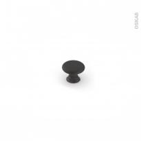 Poignée de meuble - Salle de bains N°62 - Acier noir mat - 3,3 cm - HAKEO