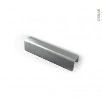 Poignée de meuble - Salle de bains N°52 - Vieux fer - 14 cm - Entraxe 96 mm - HAKEO