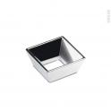 Poignée de meuble - Salle de bains N°22 - Chromé brillant - 5,2 cm - Entraxe 32 mm - HAKEO