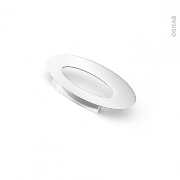 Poignée de meuble - Salle de bains N°23 - Chromé brillant - 13,6 cm - Entraxe 64 mm - HAKEO