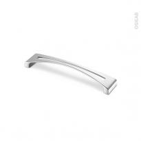 Poignée de meuble - Salle de bains N°25 - Chromé brillant - 17 cm - Entraxe 160 mm - HAKEO