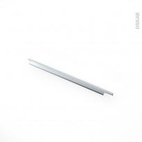 Poignée de meuble - Salle de bains N°37 - Inox brossé - 60 cm - Entraxe 192 mm - HAKEO