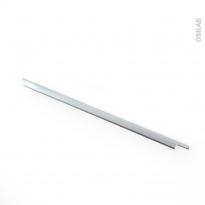 Poignée de meuble - Salle de bains N°37 - Inox brossé - 80 cm - Entraxe 224 mm - HAKEO