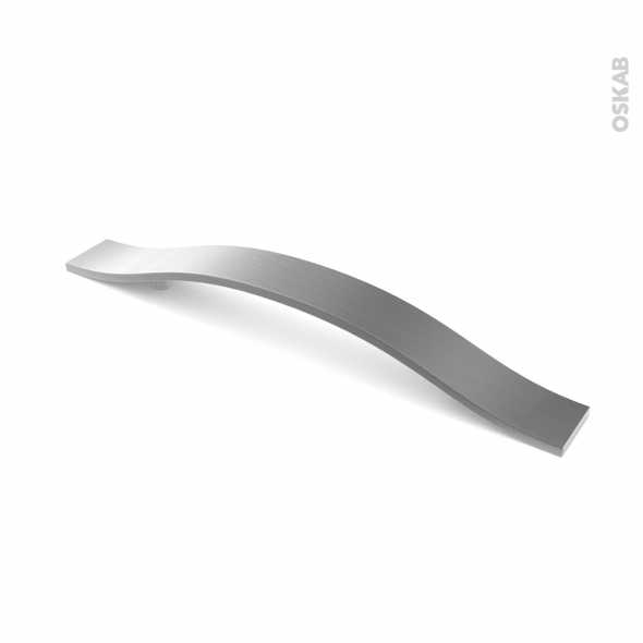 Poignée de meuble - Salle de bains N°47 - Inox brossé - 25,7 cm - Entraxe 160 mm - HAKEO