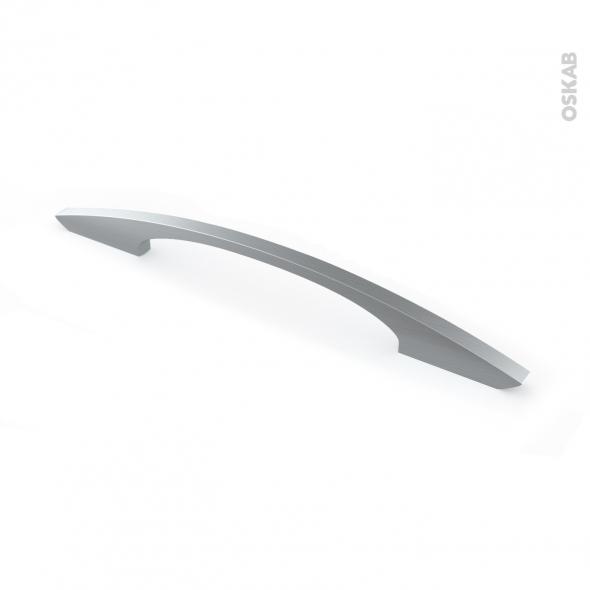 Poignée de meuble - Salle de bains N°53 - Inox brossé - 24,1 cm - Entraxe 160 mm - HAKEO