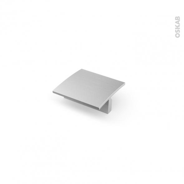 Poignée de meuble - Salle de bains N°56 - Inox brossé - 6 cm - Entraxe 32 mm - HAKEO