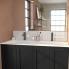 #Plan double vasque - NAJA - Céramique blanche - Pour salle de bains - L120,5 x P50,5 cm