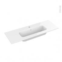 Plan vasque REZO - Résine blanche - L100,5xP40,5