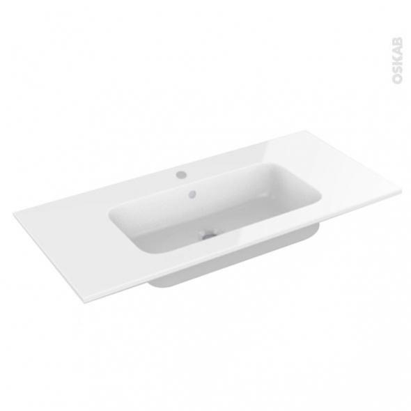 Plan vasque REZO - Résine blanche - L100,5xP50,5