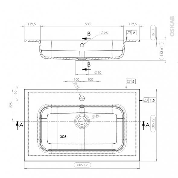 Ensemble salle de bains meuble ipoma bois plan vasque - Plan vasque bois salle de bain ...