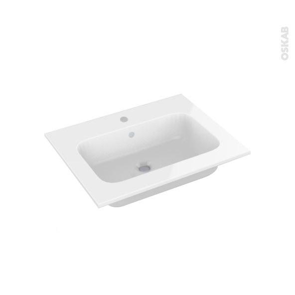 plan vasque rezo r sine blanche pour salle de bains l60 5. Black Bedroom Furniture Sets. Home Design Ideas