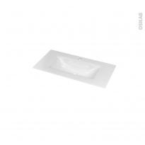 Plan vasque - VALA - Verre blanc - Pour salle de bains - L80,5 x P40,5 cm