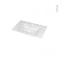 Plan vasque - VALA - Verre blanc - Pour salle de bains - L80,5 x P50,5 cm