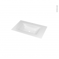 Plan vasque VALA - Verre blanc - L80,5xP50,5