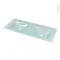 Plan double vasque EGEE - Verre d'eau - L120,5xP50,5