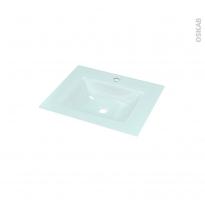 Plan vasque EGEE - Verre d'eau - L60,5xP50,5