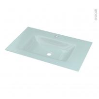 Plan vasque EGEE - Verre d'eau - L80,5xP50,5