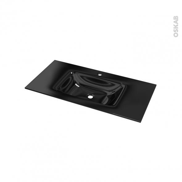 plan vasque occe verre noir l100 5xp50 5. Black Bedroom Furniture Sets. Home Design Ideas