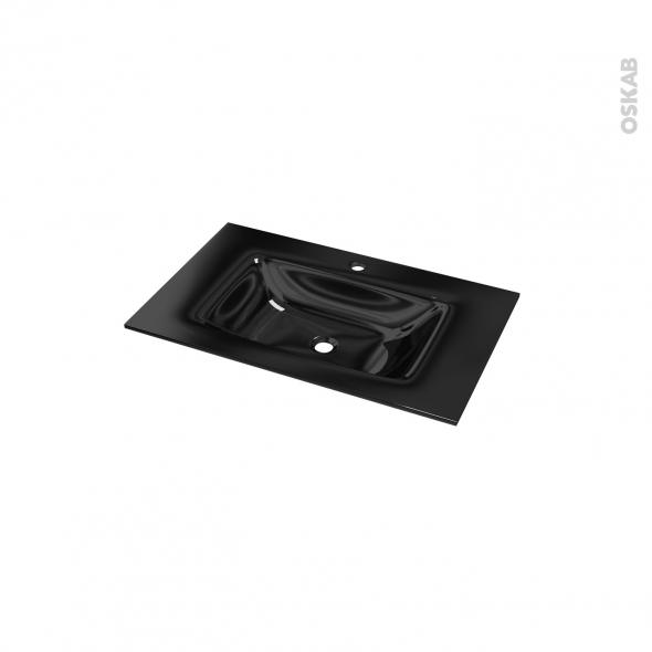 Plan vasque OCCE - Verre noir - L80,5xP50,5