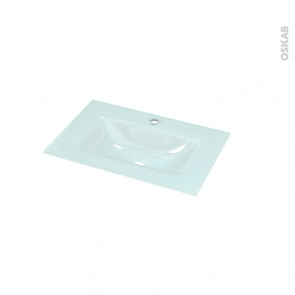 plan vasque egee verre vert d 39 eau pour salle de bains l60 5 x p40 5 cm oskab. Black Bedroom Furniture Sets. Home Design Ideas