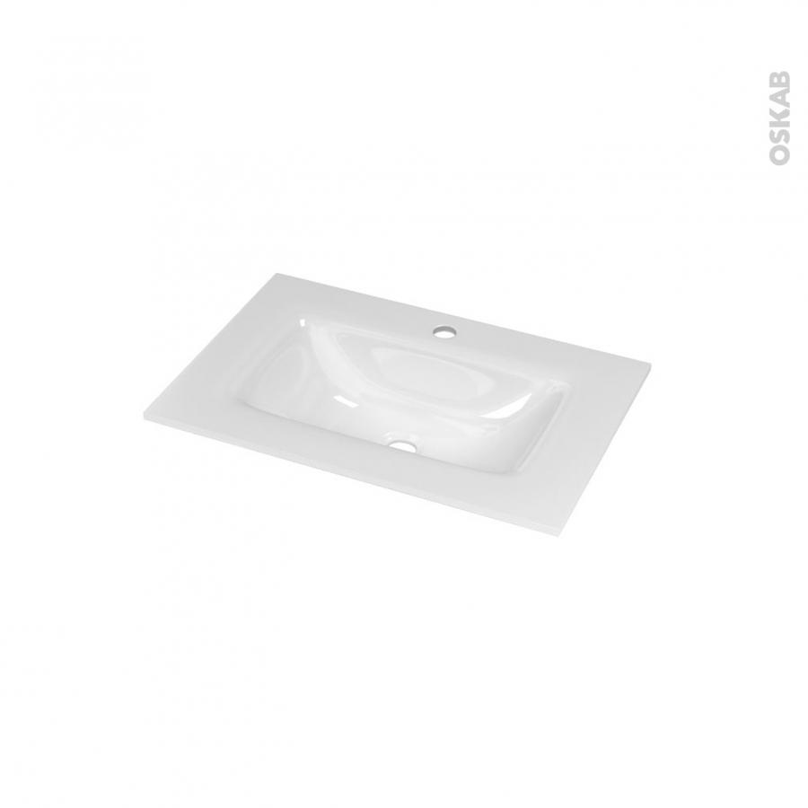 plan vasque vala verre blanc pour salle de bains l60 5 x p40 5 cm oskab. Black Bedroom Furniture Sets. Home Design Ideas
