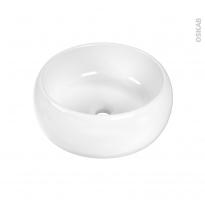 Vasque salle de bains - PUREA - A poser - Céramique blanche - Ronde