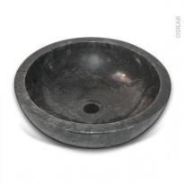 Vasque SAMO - Marbre noir - Ronde - A poser
