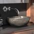 #Vasque salle de bains - LINIA - A poser - Pierre de rivière - Ovale