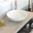 #Vasque salle de bains - JAVA - A poser - Résine blanche mate - Bol