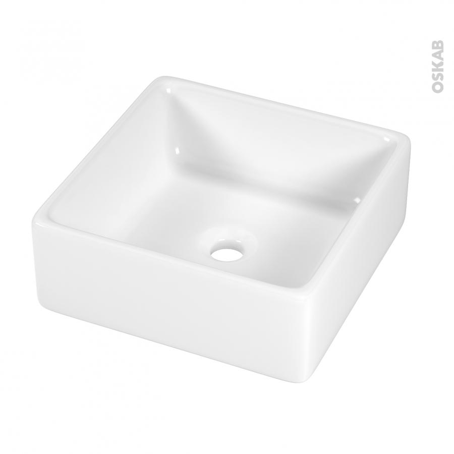 Vasque salle de bains cerato a poser c ramique blanche - Vasque ceramique salle de bain ...