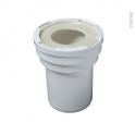 Manchon droit pour sortie de cuvette WC - Diamètre 100mm - WIRQUIN