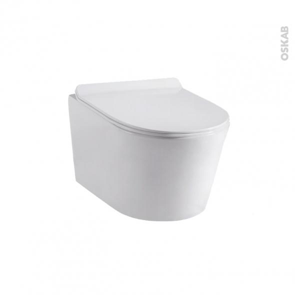 Cuvette WC suspendu - NIAGA - Sans bride