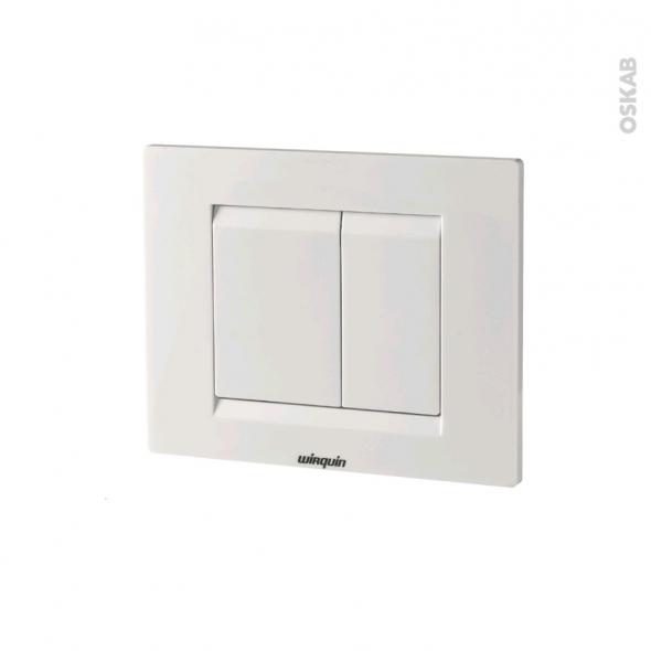 Plaque de commande WC suspendu - Essentiel blanche - WIRQUIN
