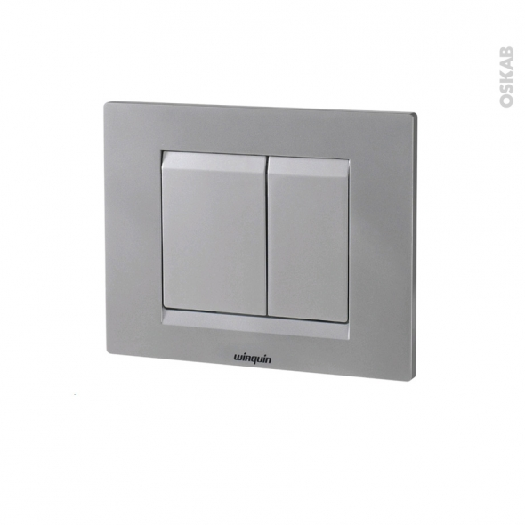 Plaque de commande WC suspendu - Essentiel chromée mate - WIRQUIN