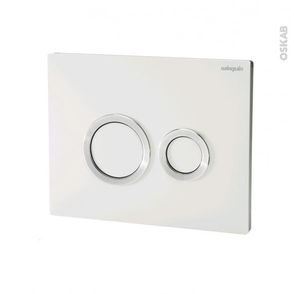 Plaque de commande WC suspendu - Hoop blanche - WIRQUIN