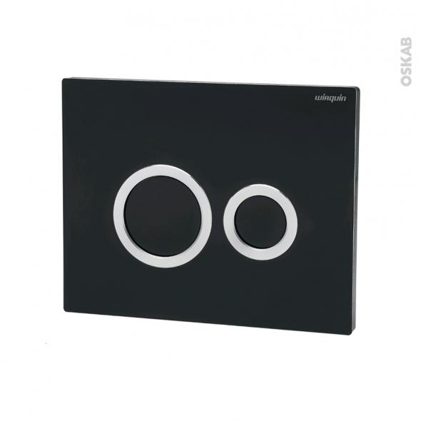 Plaque de commande WC suspendu - Hoop noire - WIRQUIN