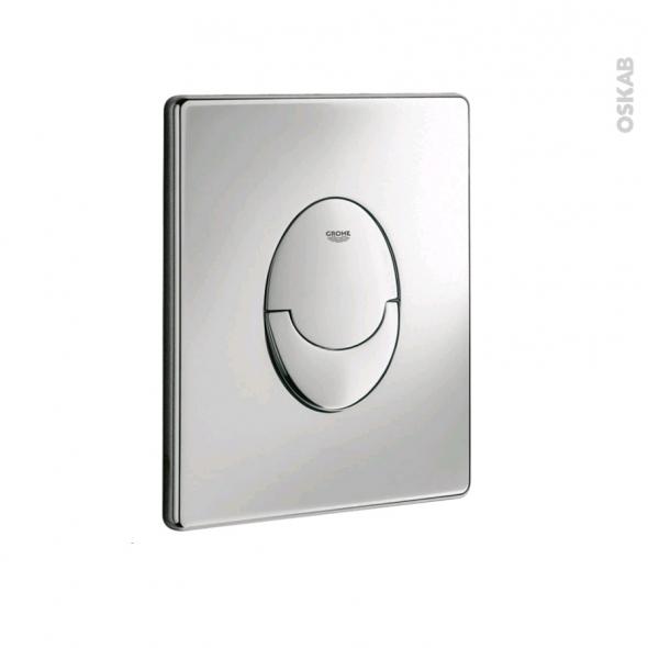 Plaque de commande WC suspendu - Skate Air chromée - GROHE
