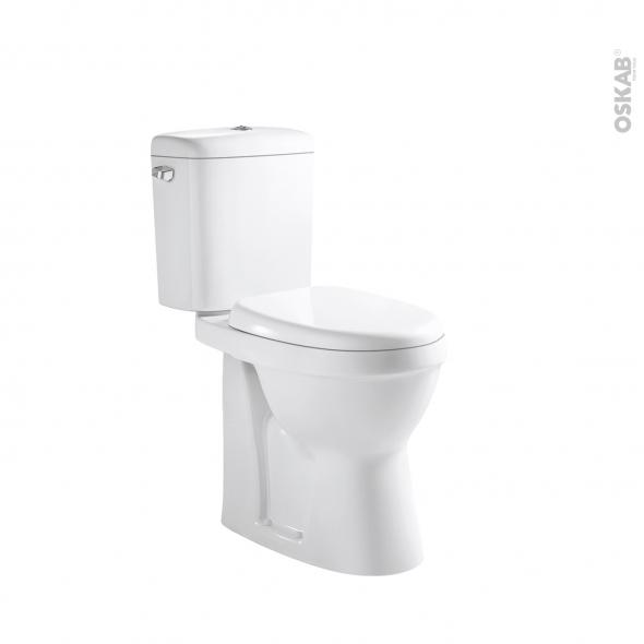 Pack WC à poser - sortie horizontale - OYA - Surélevé - Sans bride
