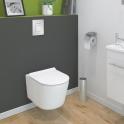Pack WC suspendu - Bâti universel Rapid SL GROHE - Cuvette NIAGA - Sans bride - Plaque chromée