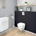 Pack WC suspendu - Bâti mural Rapid SL GROHE - Cuvette ZAPA - Plaque chromée