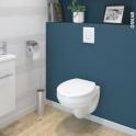 Pack WC suspendu - Bâti universel Rapid SL GROHE - Cuvette SCALA - Sans bride - Plaque blanche