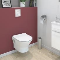 Pack WC suspendu - Bâti universel GROHE - Cuvette IDAO - Sans bride - Plaque chromée
