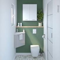 Pack WC suspendu - Bâti universel Rapid SL GROHE - Cuvette IVELA - Sans bride - Plaque blanche