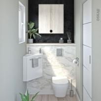 Pack WC suspendu - Bâti universel Rapid SL GROHE - Cuvette IVELA - Sans bride - Plaque chromée