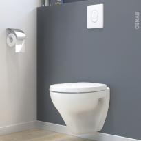 Pack WC suspendu - Bâti mural GROHE - Cuvette ZAPA - Plaque blanche