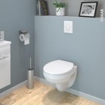 Pack WC suspendu - Bâti mural Rapid SL GROHE - Cuvette SCALA - Sans bride - Plaque blanche