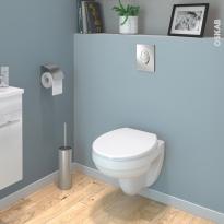 Pack WC suspendu - Bâti universel Rapid SL GROHE - Cuvette SCALA - Sans bride - Plaque chromée